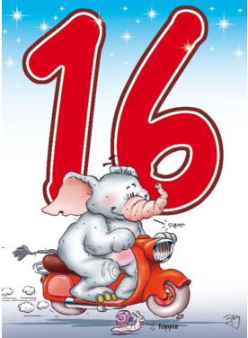 Verjaardagswensen Sweet Sixteen