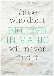 believe in magic op papier Roald Dahl