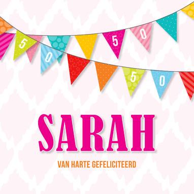 Sarah wensen 50 jaar