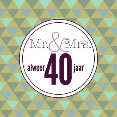 Bruidspaar 40 Jaar